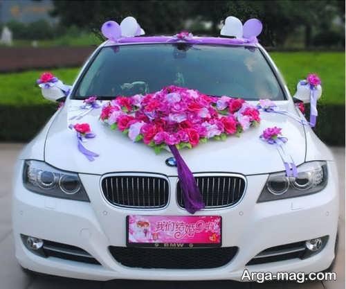 تزیین زیبا و ساده ماشین عروس