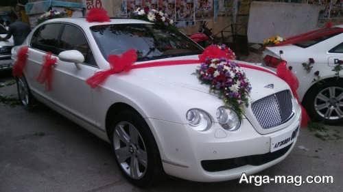 گل آرایی ماشین عروس سفید