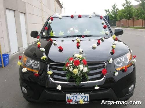 تزیین ماشین عروس مشکی