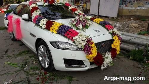 تزیین زیبا و جالب ماشین عروس با گل