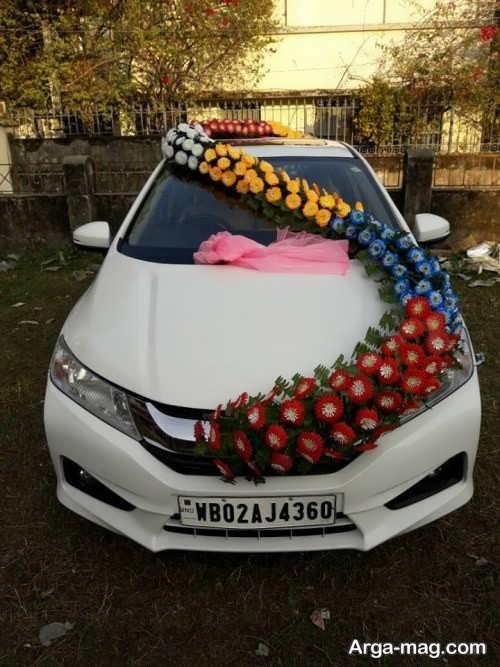 تزیینات زیبا ماشین عروس