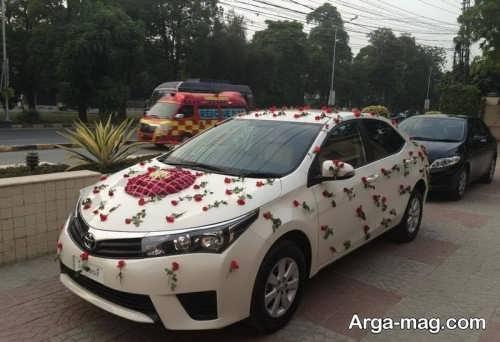 گل آرایی خلاقانه برای ماشین عروس