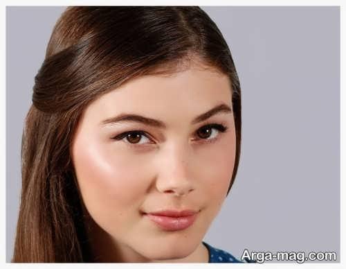 مدل آرایش لایت برای صورت گرد