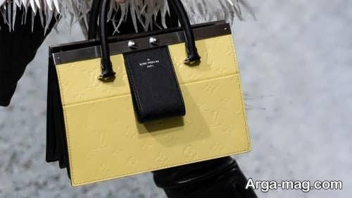 مدل کیف زرد و مشکی