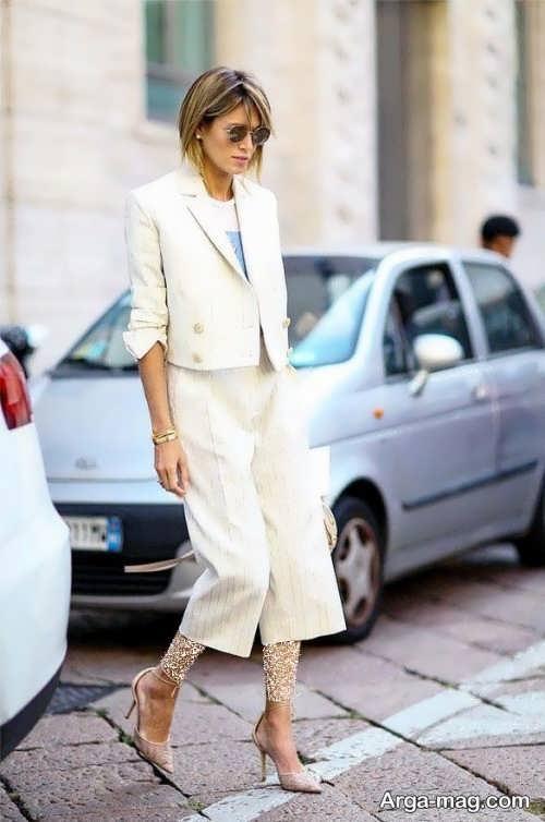 کت و شلوار طرح دار زنانه