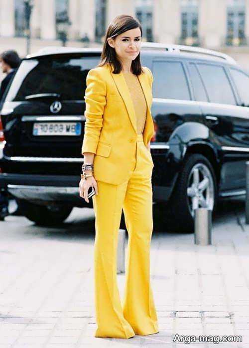 مدل کت و شلوار زرد 2019