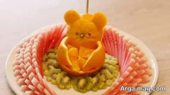 میوه آرایی پرتقال شب یلدا
