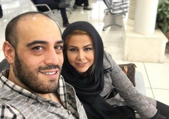 عکس ساده و صمیمی یاسمینا باهر و همسرش