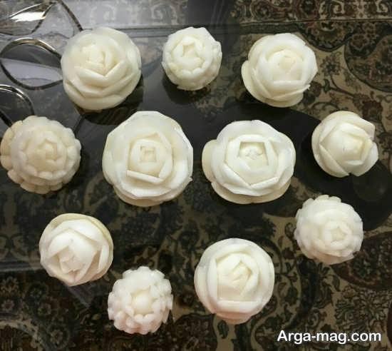 تزیین شلغم به شکل گل رز