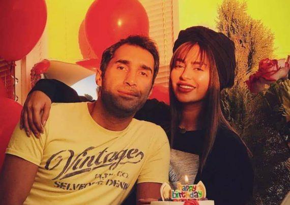 چهره غمگین سمانه پاکدل و همسرش