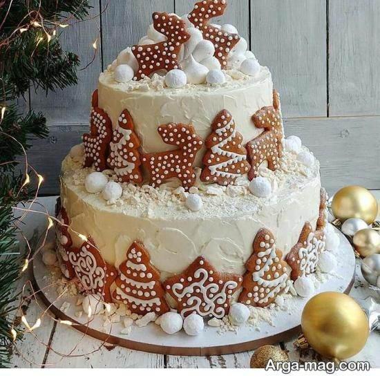 کیک دو طبقه تولد زنانه