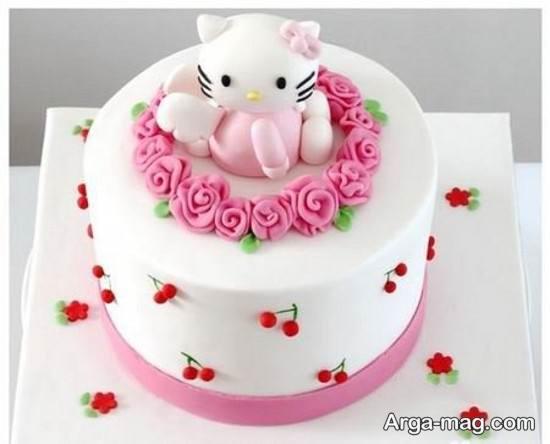 کیک تولد طر زیبای زنانه