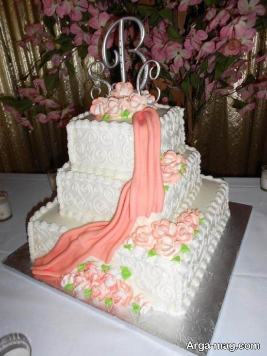 الگوی تزیین کیک تولد خانم