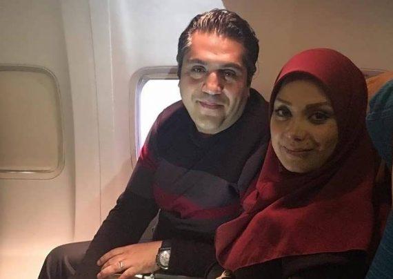 ست مشکی مانی رهنما و همسرش