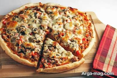 پیتزا گوشت و پیاز