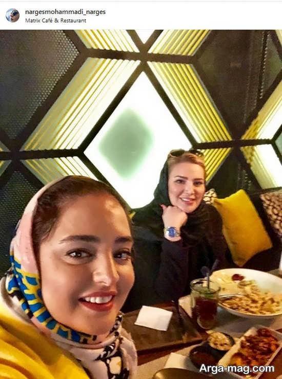 نرگس محمدی در رستوران فرزاد فرزین