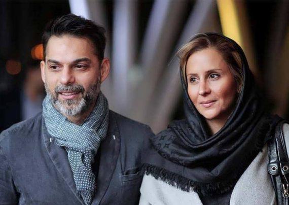 عکس خاص پیمان معادی و همسرش