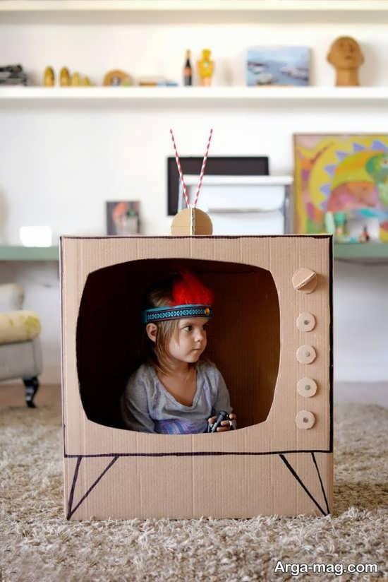 کاردستی خلاقانه تلویزیون
