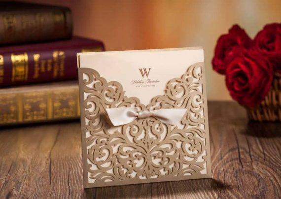 کارت عروسی چوبی