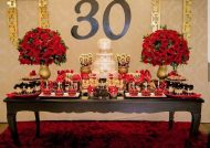 گل آرایی میز تولد