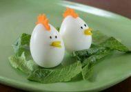 تزیین تخم مرغ پخته