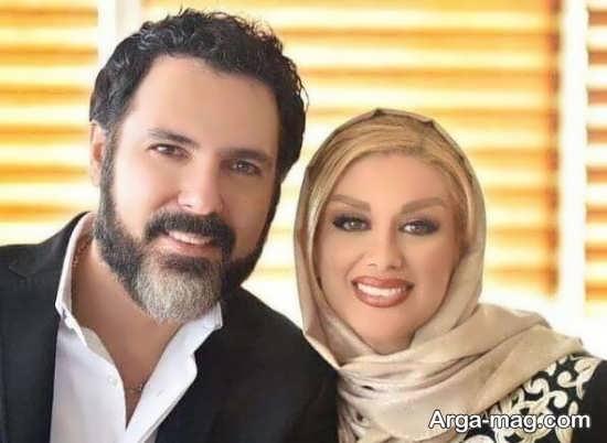 کوروش تهامی در کنار همسرش