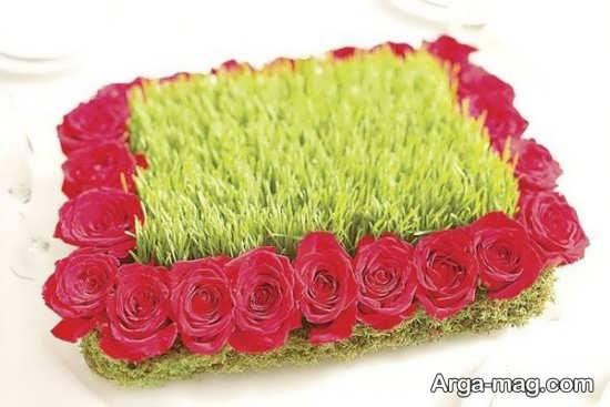 تزیین گل رز برای سبزه عروس