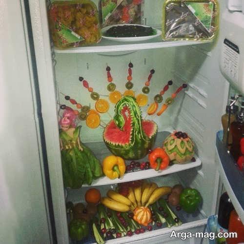 تزیین میوه برای یخچال نوعروس