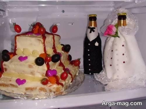 تزیین جالب و فانتزی یخچال عروس