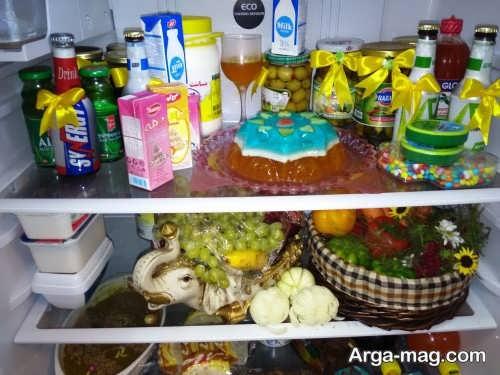 تزیین مواد غذایی برای یخچال نوعروس