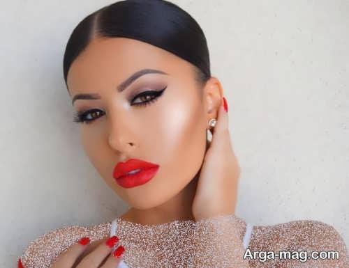 مدل آرایش صورت زیبا و بی نظیر عروس