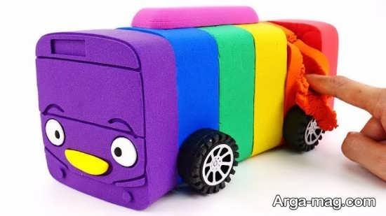 ساخت اتوبوس با شن بازی