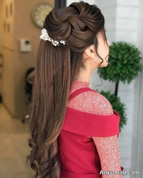 شینیون مو زیبا و جذاب دخترانه