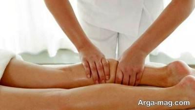 ماساژ دادن ساق پا برای رفع دردماهبچه