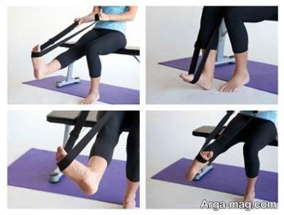 انجام حرکات کششی برای درمان گرفتگی عضلات پا