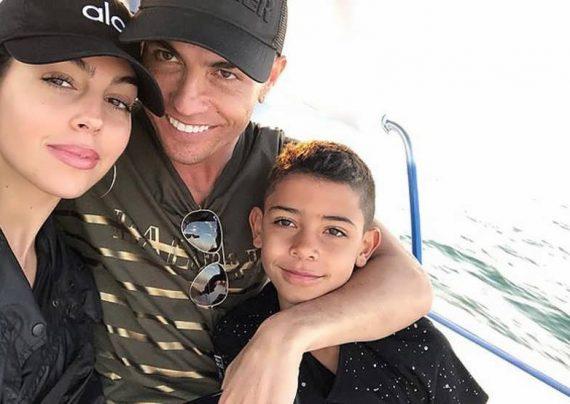 چهره خوشحال رونالدو و همسرش