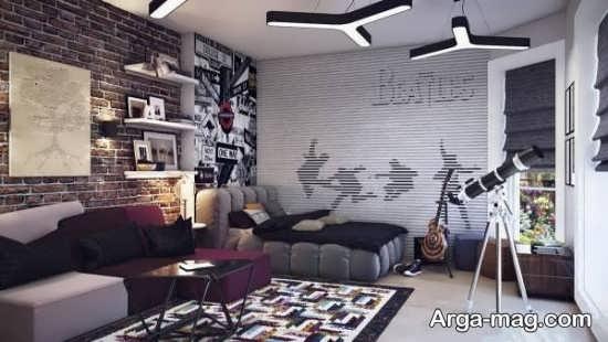 دیزاین اتاق خواب پسرانه مدرن