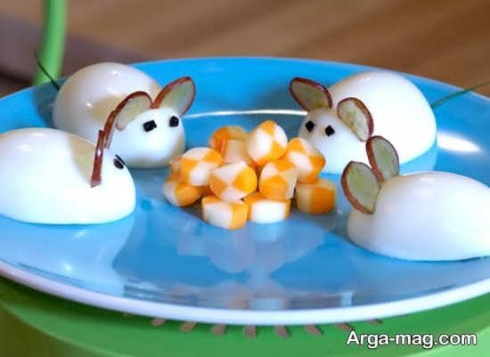تزئین تخم مرغ آپز