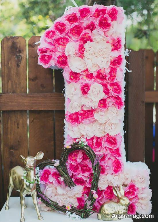گل آرایی و تزئین میز تولد