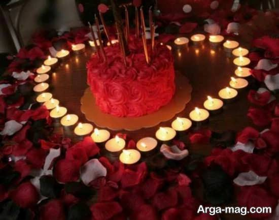 گل آرایی و تزیین عاشقانه میز تولد