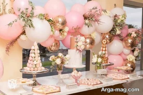 گل آرایی و تزئین جذاب میز تولد