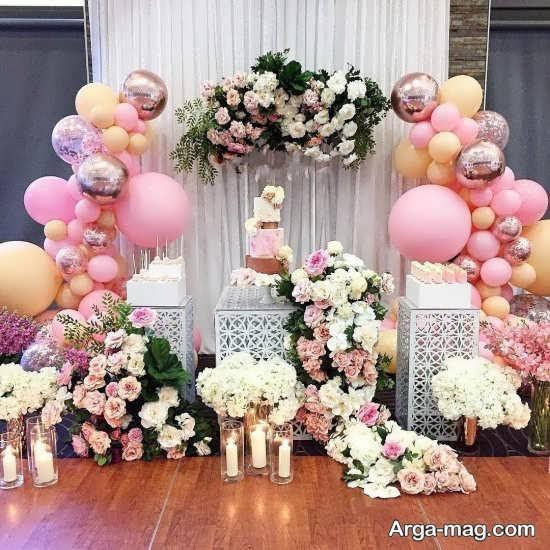 گل آرایی و بادکنک آرایی میز تولد