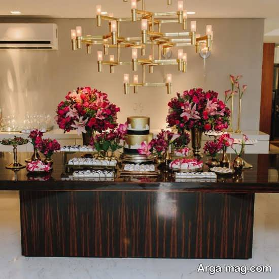 تزیین گل میز تولد