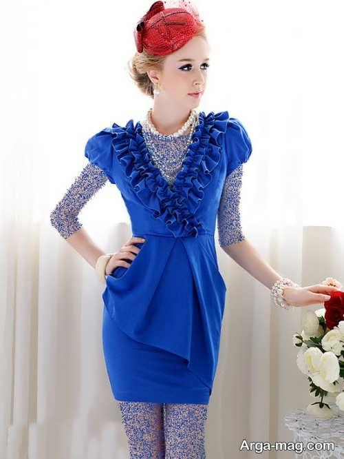 مدل لباس مجلسی زیبا و شیک آبی