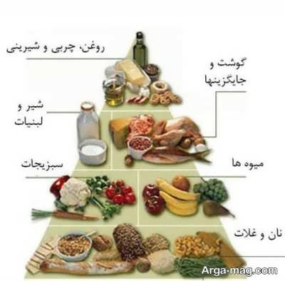 هرم غذایی و تغذیه مناسب در بارداری