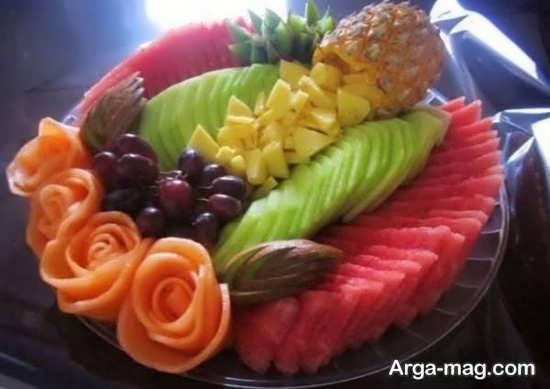 تزییناتی زیبا از سالاد میوه