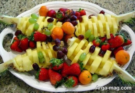 مدل تزیینات سالاد میوه