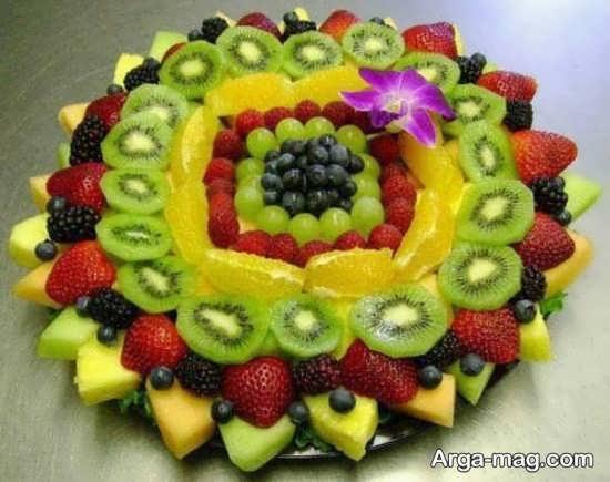 خلاقیت در تزیین سالاد میوه