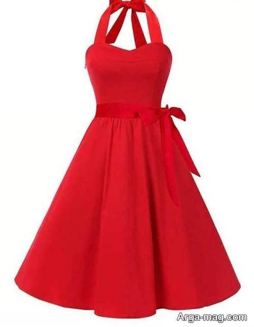 مدل لباس مجلسی قرمز 2019