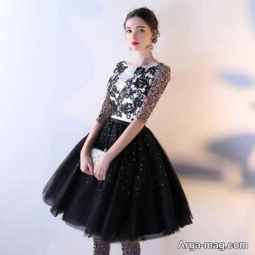 مدل لباس مجلسی طرح دار 2019